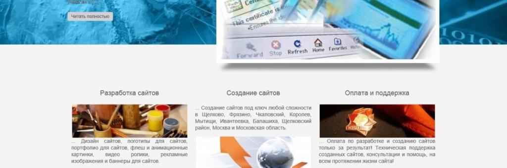 Старый сайт Первой Интернет дизайн студии